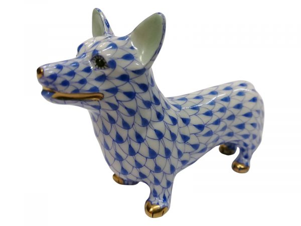 Herend Blue Corgi
