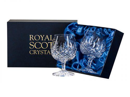 Pair of Royal Scot Crystal London Brandy Glasses