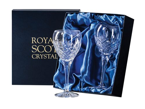 Royal Scot Crystal Large Wine Glasses in a pair