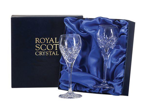 Pair of Royal Scot Crystal London Port Sherry Glasses