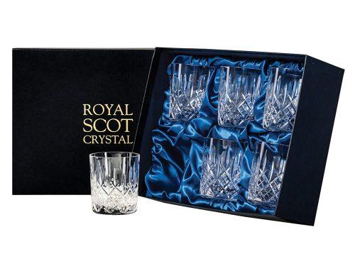 Set of 6 Royal Scot Crystal London Large Tumblers