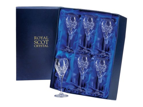 Set of 6 Royal Scot Crystal Port / Sherry Glasses