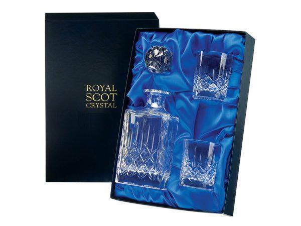 Royal Scot Crystal Decanter & Whisky Tumbler Set