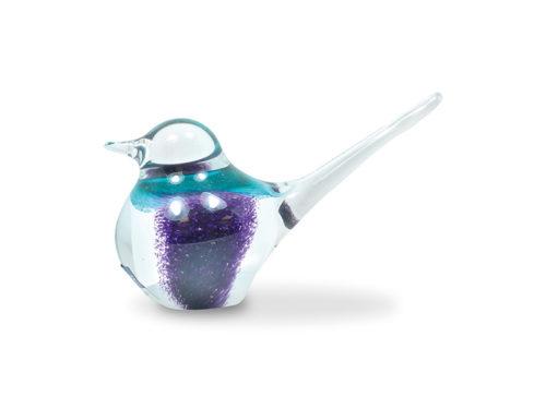 Svaja Basil Bird in Violet and White
