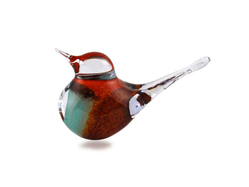 Svaja Crystal Basil Bird in brown and teal