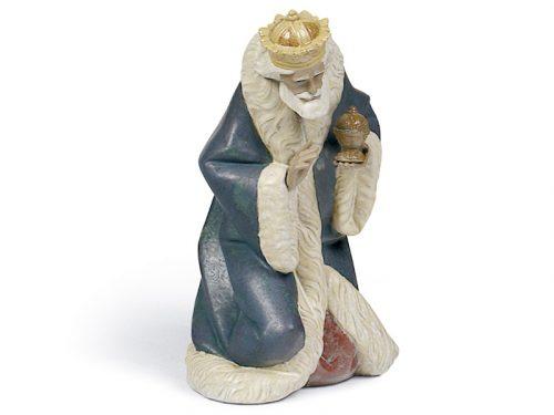 Lladro King Melchior Gres porcelain figure, 01012278.