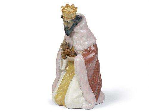 Lladro King Gaspar Gres porcelain figure, 01012279.