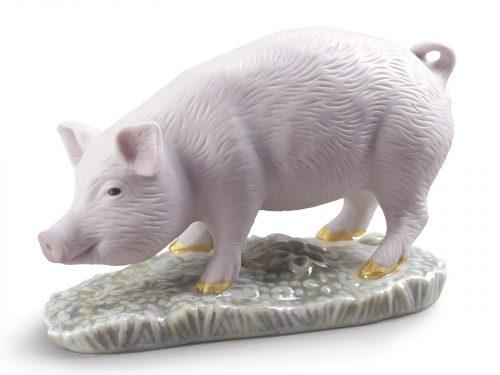 Lladro Porcelain The Pig-Mini 01009121