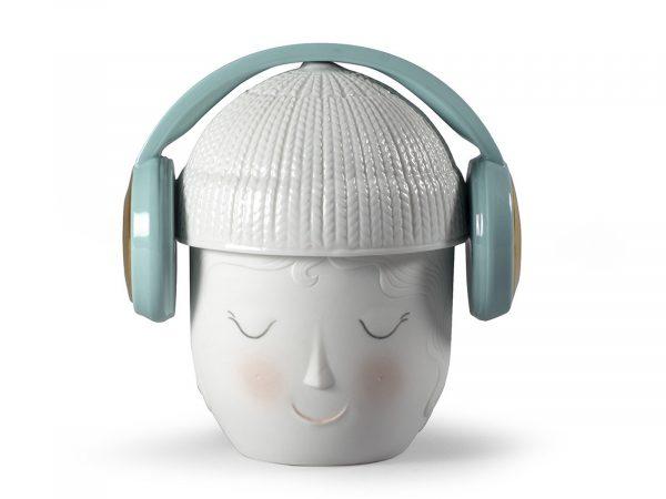 Lladro Porcelain Lane Headphones Box (Green) 01009384