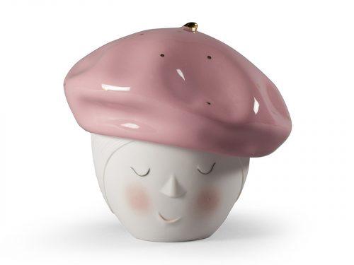 Lladro Porcelain Lee Beret Box (Pink-Gold) 01009385