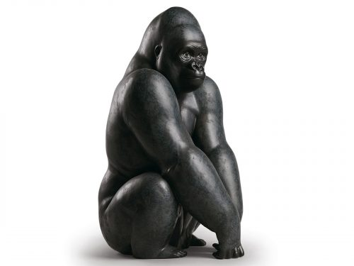 Lladro Porcelain Gorilla 01012555
