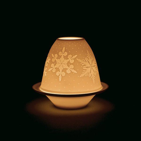 Lladro Lithophane Votive Light Snowflakes 01018449