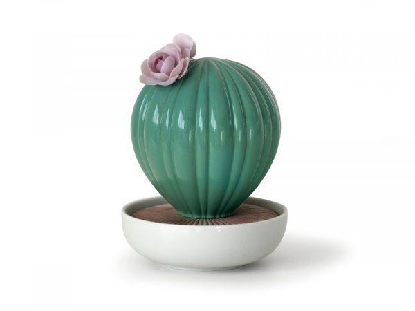 Lladro Porcelain Ferocactus Cactus-Tropical Blossoms 01040186