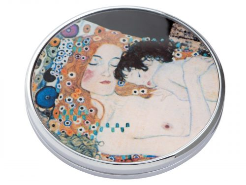 "This beautifully crafted pocket mirror by John Beswick comes with a stunning extract from Gustav Klimt's painting of ""Three Ages of Women"". Gustav Klimt was an Austrian symbolist painter and one of the most prominent members of the Vienna Secession movement. Size: Diameter: 7 cm - 3"". By John Beswick. Product Code: M01KL(S)"