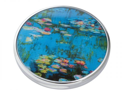 "Water Lillies is a series of approximately 250 oil paintings created by French Impressionist Claude Monet, the paintings depict Monet's Home Garden in Giverny, France. This beautifully crafted pocket mirror by John Beswick features a stunning extract of one of Monet's Water Lilly paintings. Size: Diameter: 7 cm - 3"". By John Beswick. Product Code: M15MO(S)"