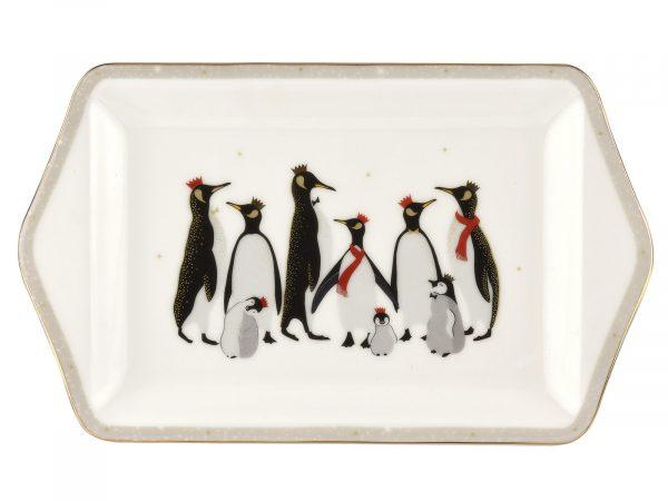 Sara Miller London Penguin Christmas Collection Dessert Tray