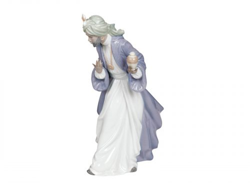 The King of Balthasar is one of the 3 kings to visit Baby Jesus on the night of his birth. Add the gift of Myrrh to your nativity scene this Christmas.