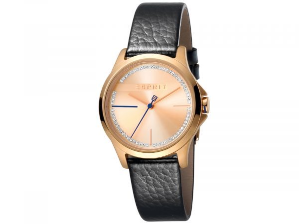 Esprit Black Calf Leather Watch