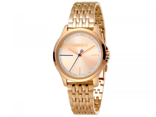 Esprit Stainless Steel, Rosegold Plated Watch