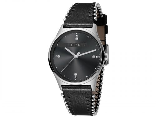 Esprit Black Calf Leather Watch