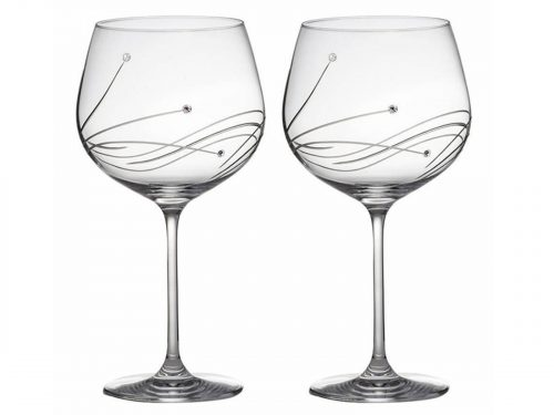 These Stunning Diamante Copa Gin Glasses created by Royal Scot Crystal come with a beautiful pattern and dazzling Swarovski Stones. The perfect glass to drink your favourite Gin in style. Size: 780ml By: Royal Scot Crystal Product Code: DSB2GIN