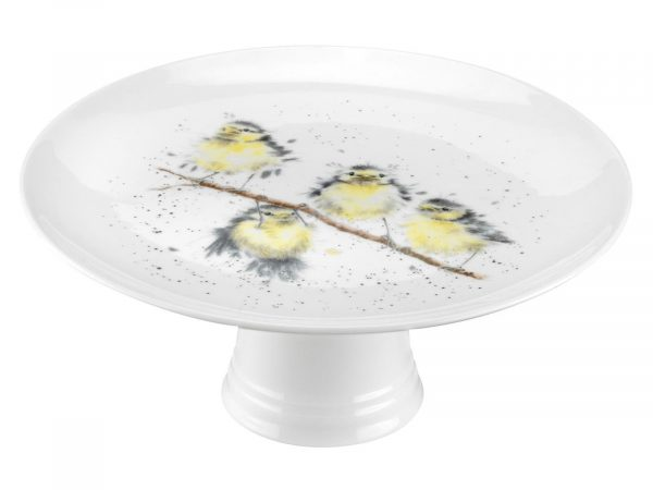 """This is a beautifully designed Cake Stand with vibrant colours and intricate detail you can see four stunning birds perching and hanging on a branch. A gorgeous addition to any tea party. Size: 25cm - 9.75"""". By: Wrendale. Product Code: WN4001-XW."""