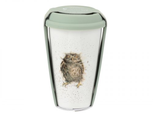 This Travel mug is decorated with a cute intricate wide-eyed Owl. With it's beautiful simplistic design, its a perfect gift for any animal lover. Size: 0.31L - 11fl.oz. By: Wrendale. Product Code: WNLI78753-XW.
