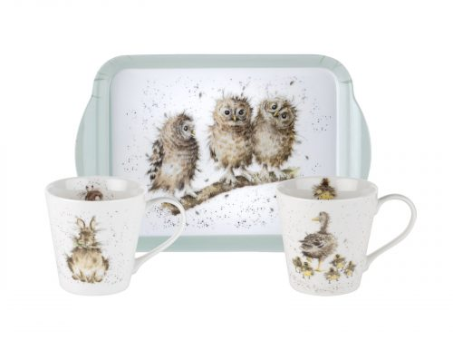 """This is the perfect set for anyone who loves Wrendale's designs, with three stunning illustrations, this will be a lovely addition to any tea party. Size: 0.18L Mug, 21 x 14cm Tray - 6.5fl.oz Mug, 8"""" x 5.5"""" Tray. By: Wrendale. Product Code: X0011658739."""