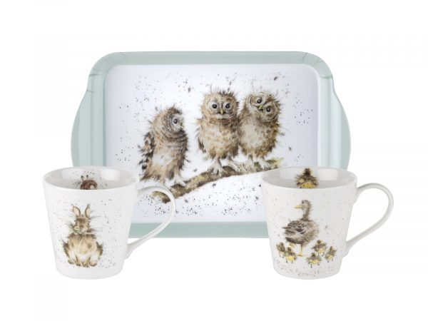 "This is the perfect set for anyone who loves Wrendale's designs, with three stunning illustrations, this will be a lovely addition to any tea party. Size: 0.18L Mug, 21 x 14cm Tray - 6.5fl.oz Mug, 8"" x 5.5"" Tray. By: Wrendale. Product Code: X0011658739."