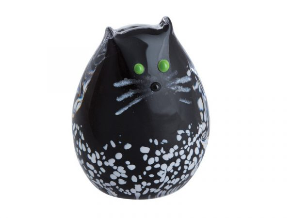 Caithness Purrfect Black & White Kitten Paperweight U17060