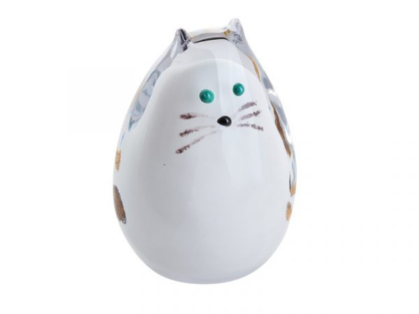 Caithness Purrfect White Spotty Cat Paperweight U17069