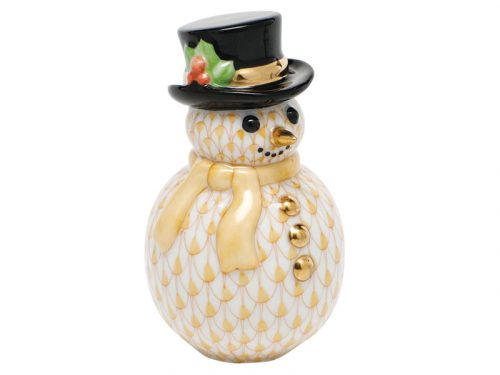 Yellow Herend Snowman