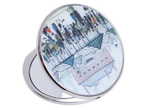John Beswick Market Scene Pocket Mirror
