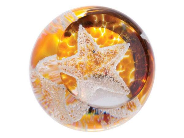 Caithness Glass Gold Little Stars Paperweight