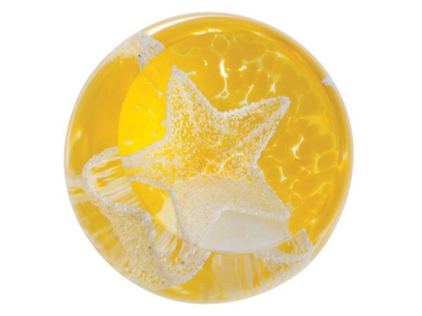Caithness Glass Yellow Little Stars Paperweight