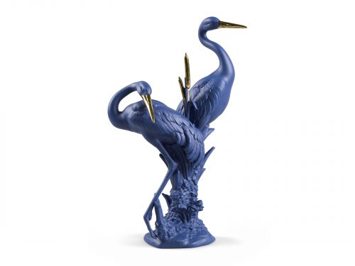 Lladro Courting Cranes - Blue & Gold (Limited Edition of 300)