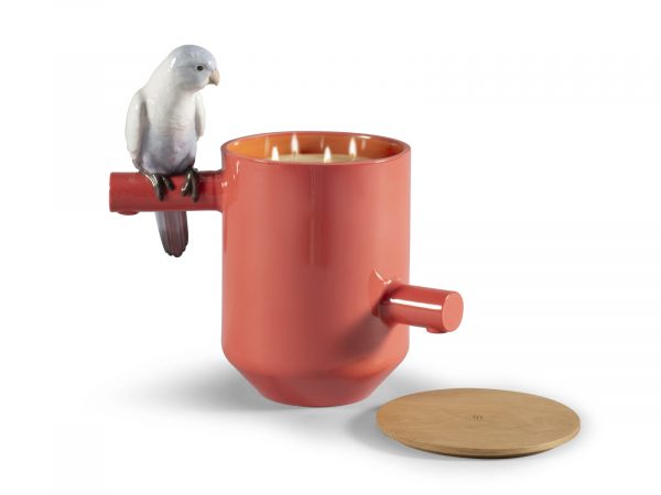 Lladro Parrot's Scented Treasure - Red