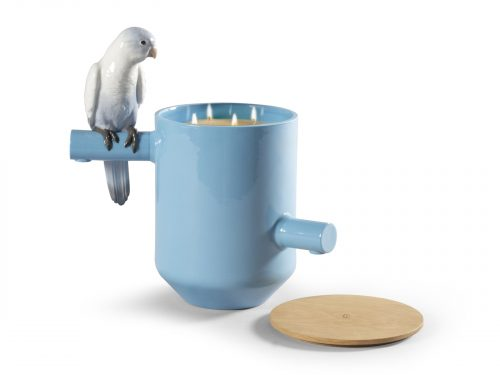 Lladro Parrot's Scented Treasure - Blue