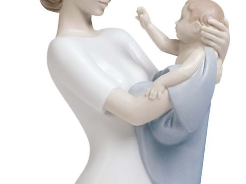 Lladro porcelain figurine of a mother and her baby