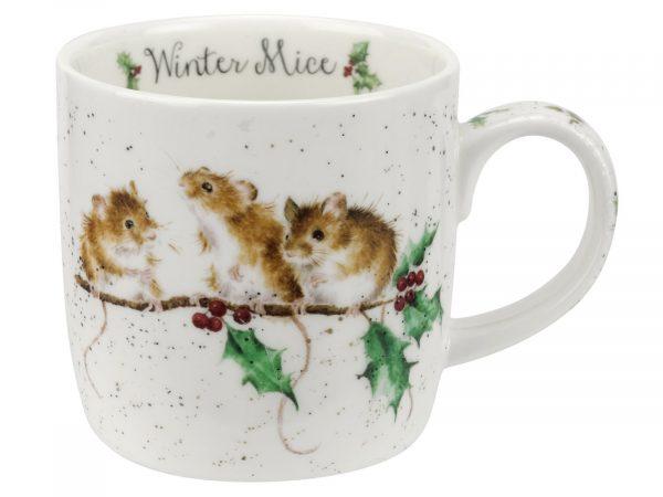 Wrendale Winter Mice Mug By Royal Worcester