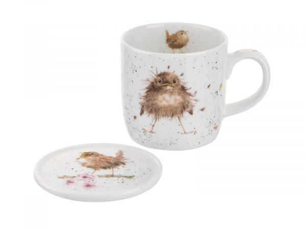 Royal Worcester Wrendale Mug & Coaster Set - Flying the Nest / Birds