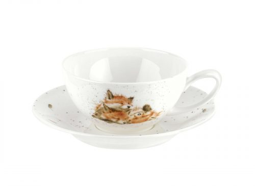 Royal Worcester Wrendale Cup & Saucer - Large / Foxes