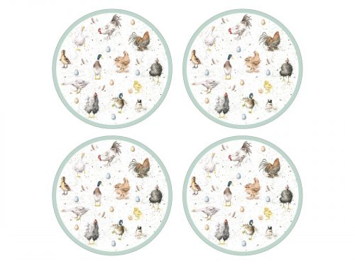 Royal Worcester Wrendale Placemats - Farmyard Feathers (Set of 4)
