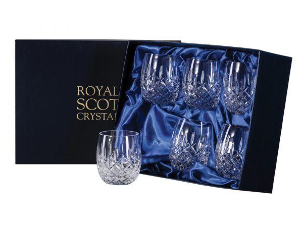 Set of 6 Royal Scot Crystal London Barrel Tumblers