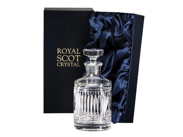 Round Royal Scot Crystal Art Deco Decanter