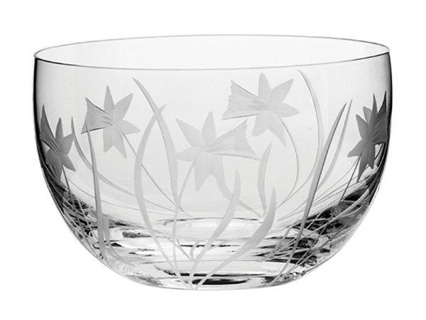 Small Royal Scot Crystal Daffodil Bowl