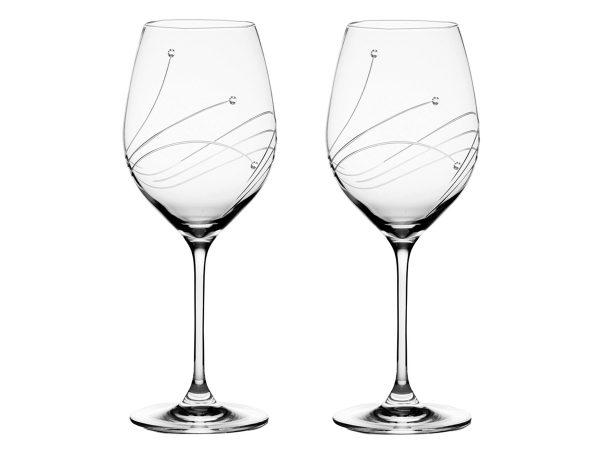 Pair of Royal Scot Crystal Diamante Goblets
