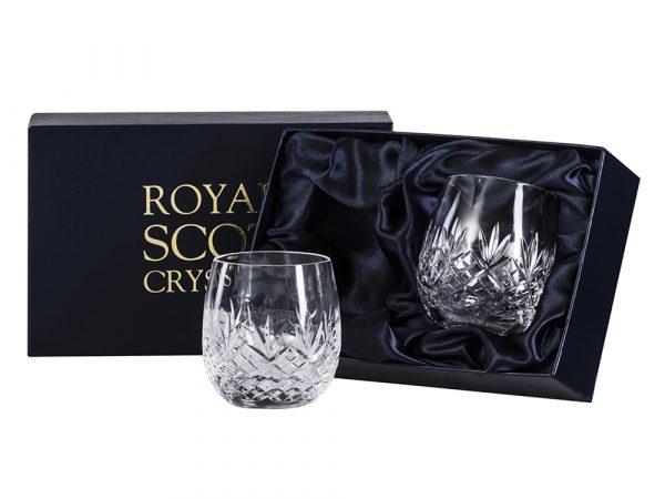 Pair of Royal Scot Crystal Edinburgh Gin Tumblers