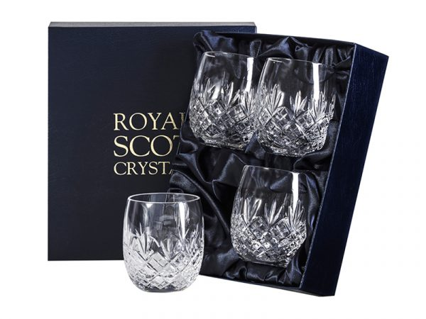 Set of 4 Royal Scot Crystal Edinburgh Gin Tumblers