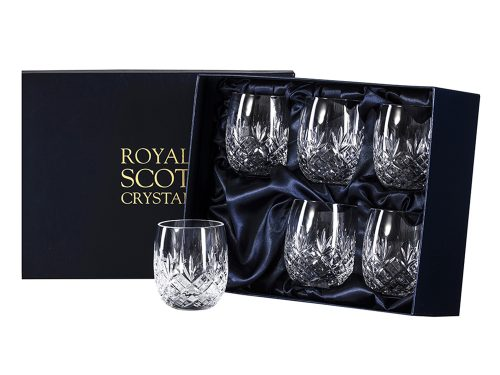 Set of 6 Royal Scot Crystal Edinburgh Gin Tumblers
